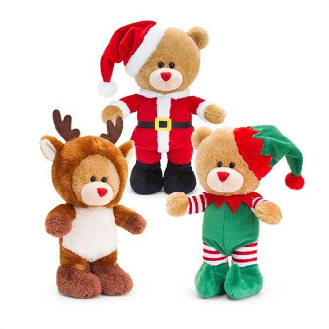 Keel Christmas Pip Bear With Sound 30cm