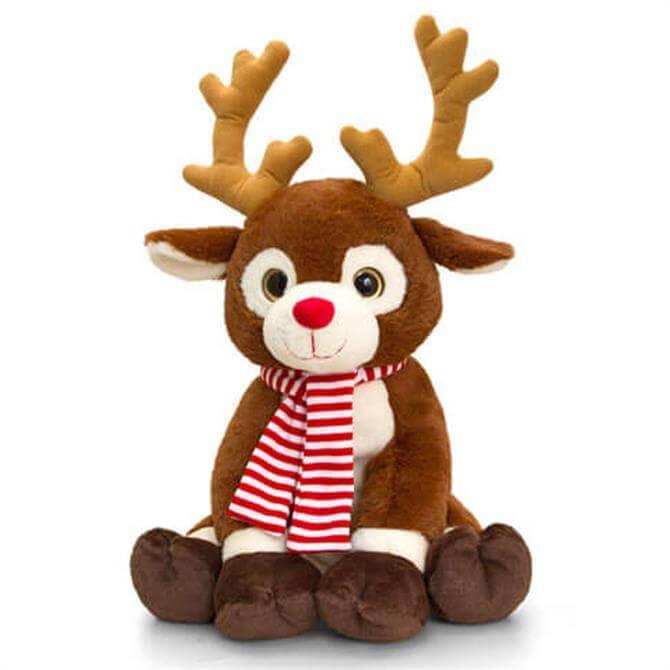 Keel 35cm Reindeer With Scarf