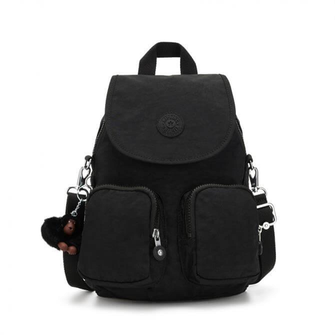 Kipling Firefly Up Small Multiway Backpack - True Black
