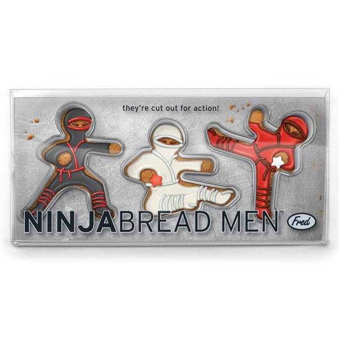 Fred Ninja Bread Men Cookie Cutters Set Of 3