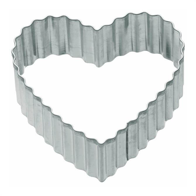 Kitchen Craft Fluted Heart Shaped 6cm Metal Cookie Cutter