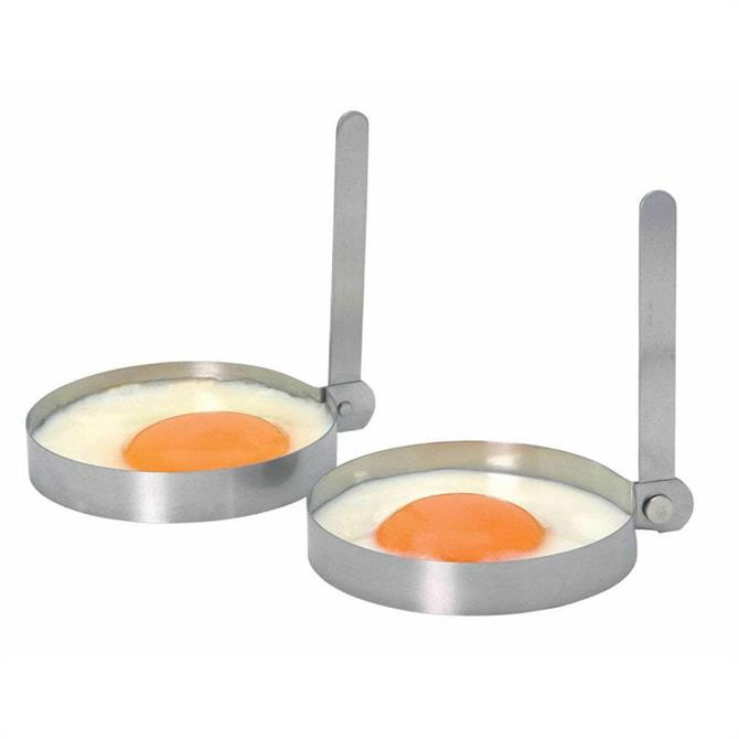Kitchen Craft Set of Two Stainless Steel Round Egg Rings