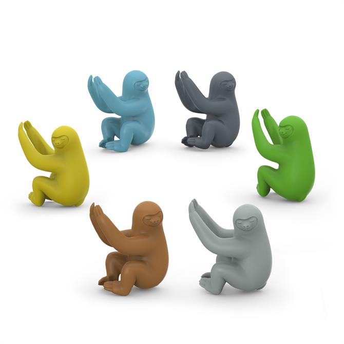 Fred Pack of 6 Social Climbers Sloth Wine Markers