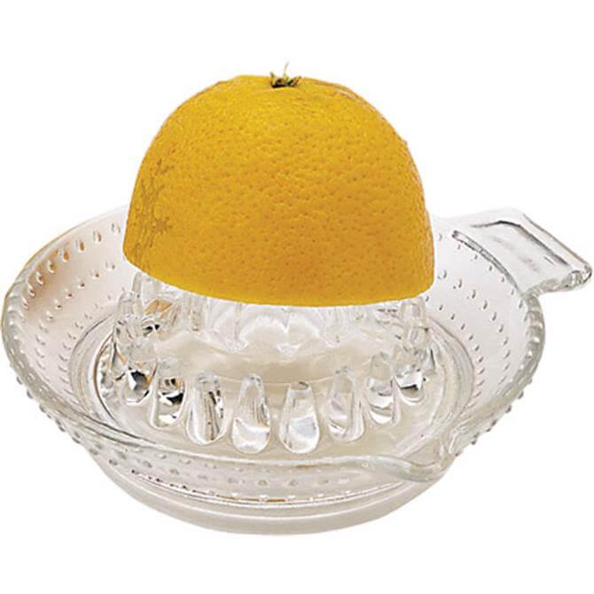 Kitchen Craft Round Glass Lemon or Citrus Fruit Squeezer