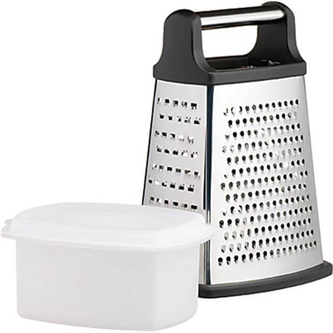 Kitchen Craft Stainless Steel Four Sided Box Grater With Collecting Box