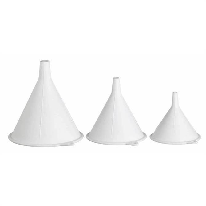 Kitchencraft Set of 3 Polypropylene Food Safe Funnels