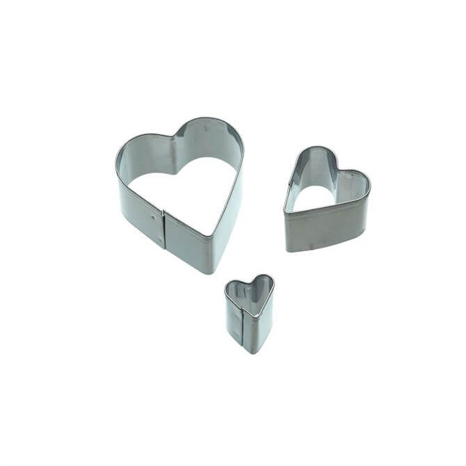 KitchenCraft Sweetly Does It Set of 3 Heart Fondant Cutters