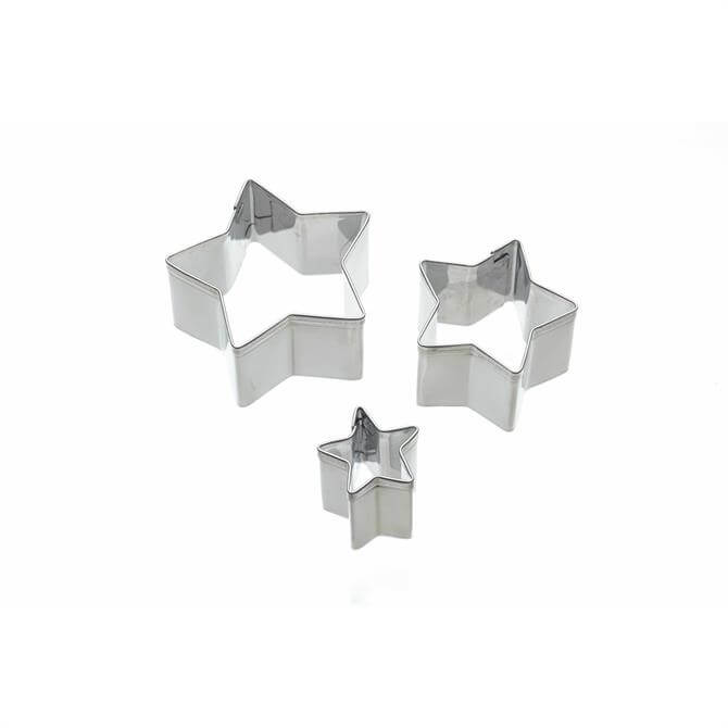 KitchenCraft Sweetly Does It Set of 3 Star Fondant Cutters