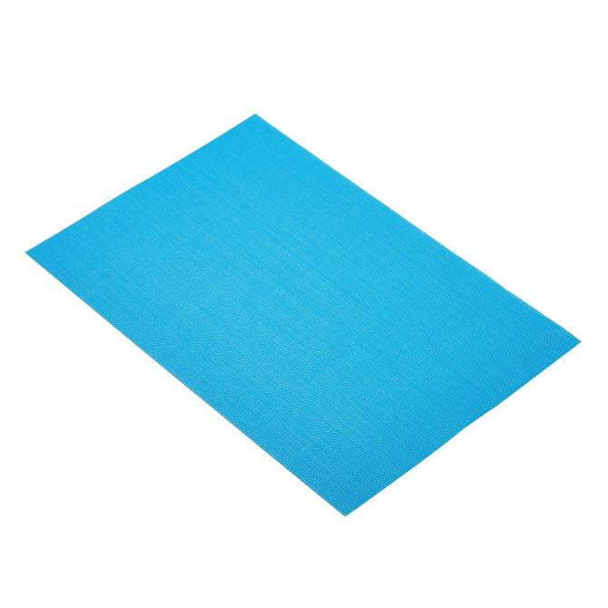 KitchenCraft Woven Placemat: Bright Blue