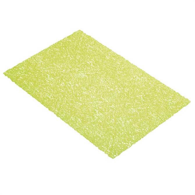 KitchenCraft Woven Placemat: Textured Green Weave