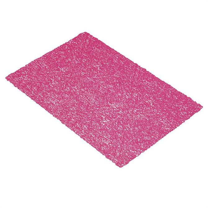 KitchenCraft Woven Placemat: Pink Texture
