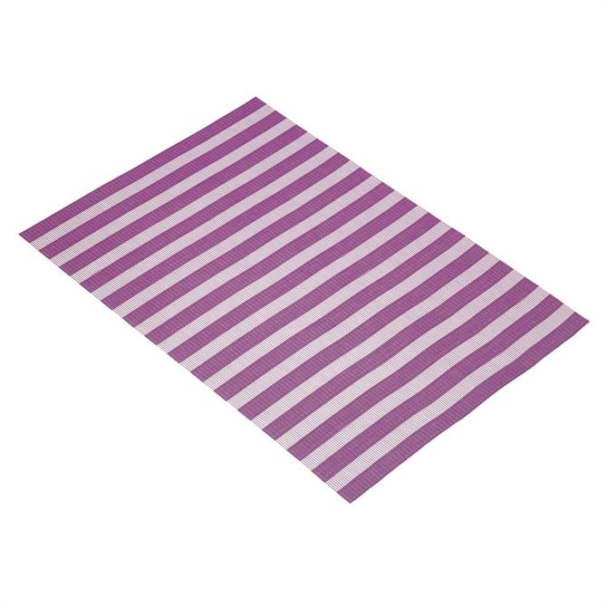 KitchenCraft Woven Placemat: Purple Stripe