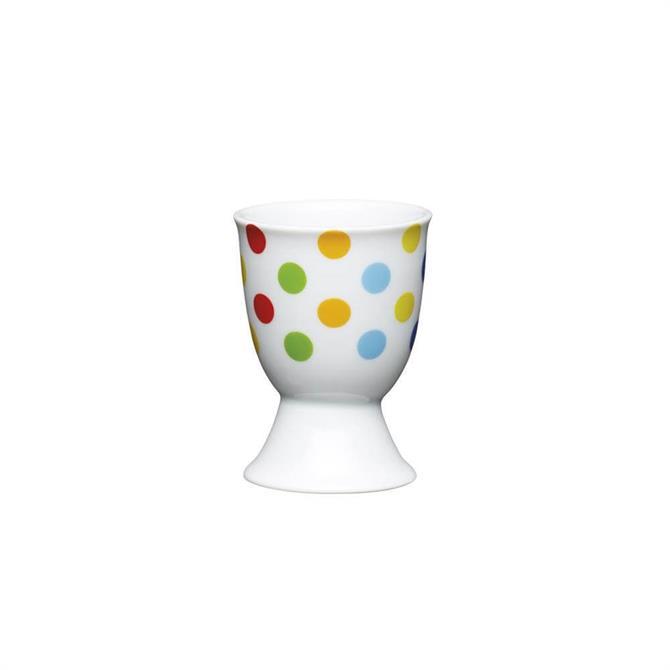 KitchenCraft Brights Spots Porcelain Egg Cup