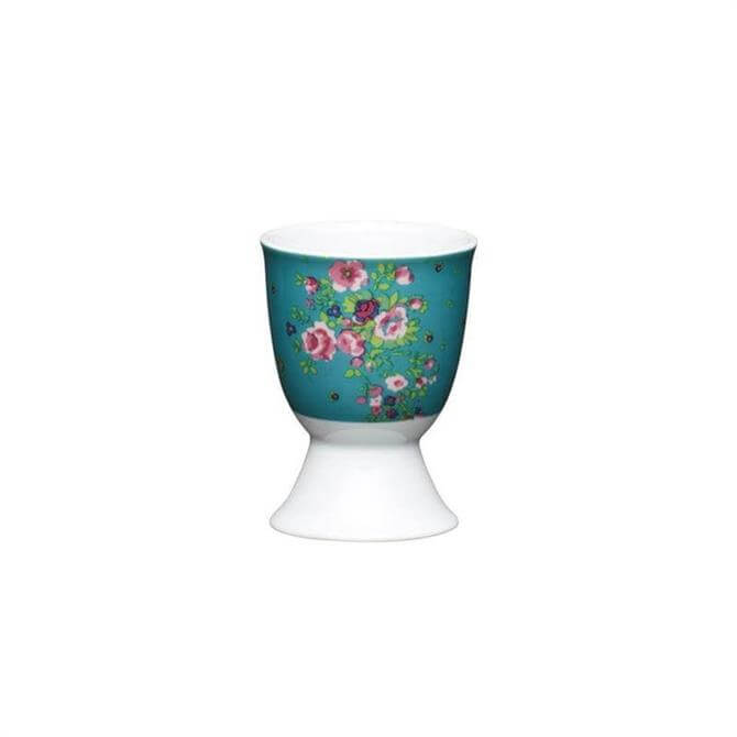 KitchenCraft Floral Rose Porcelain Egg Cup
