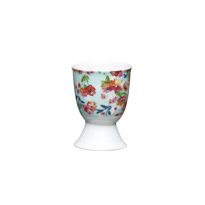 KitchenCraft Floral Tropics Porcelain Egg Cup