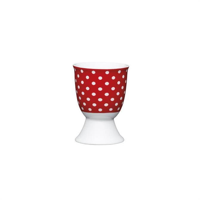 KitchenCraft  Polka Dot Porcelain Egg Cup