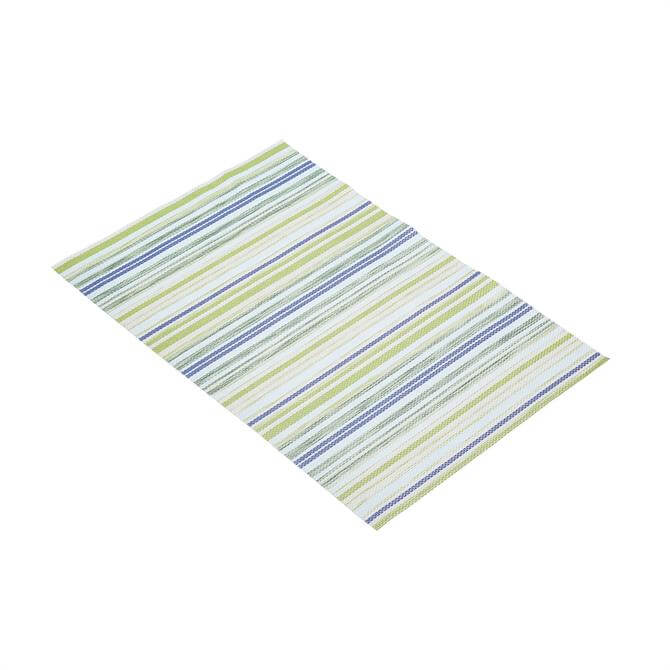 KitchenCraft Woven Placemat: Green Stripe
