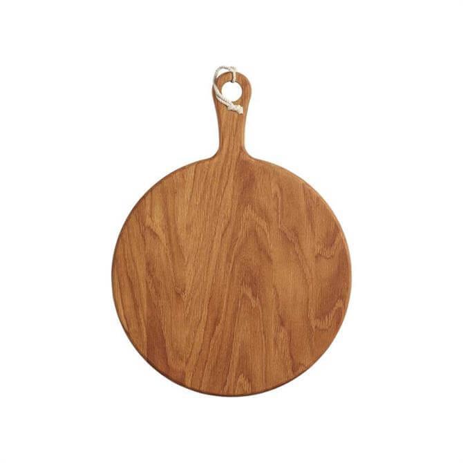 MasterClass Gourmet Prep & Serve Round Oak Paddle Board