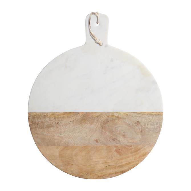 MasterClass Gourmet Prep & Serve Wood & Marble Paddle Board