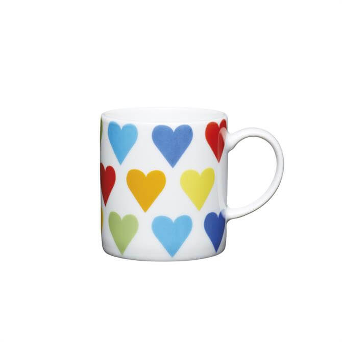 Kitchen Craft Porcelain Hearts 80ml Espresso Cup