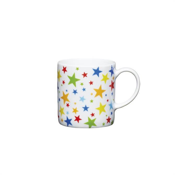 Kitchen Craft Porcelain Multi Stars 80ml Espresso Cup