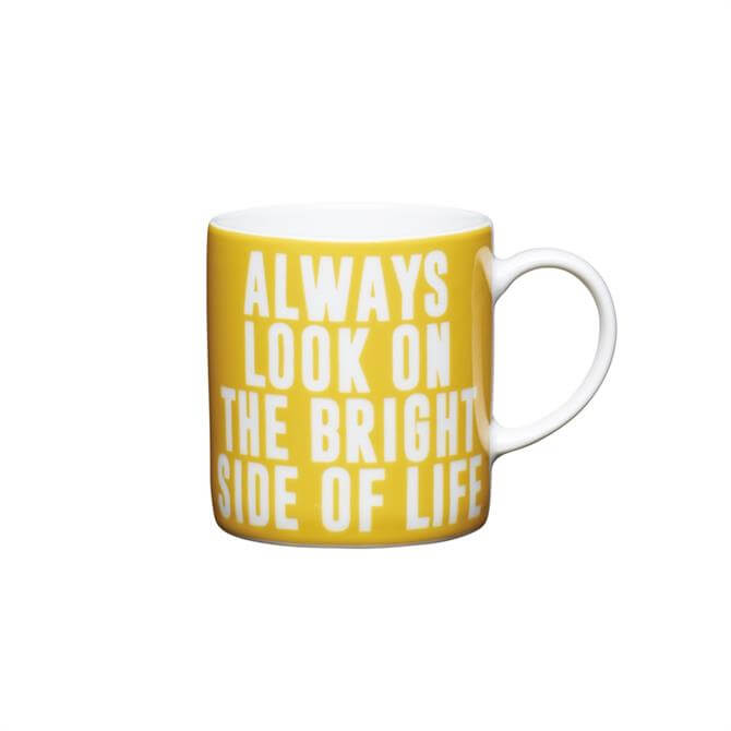 "Kitchen Craft Porcelain ""Always Look On The Brightside"" 80ml Espresso Cup"