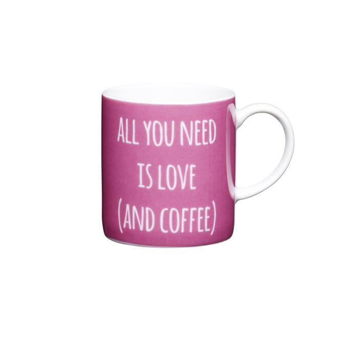"Kitchen Craft Porcelain ""All You Need"" 80ml Espresso Cup"