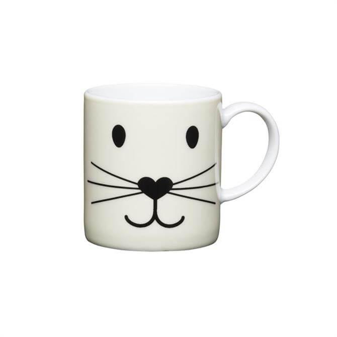 Kitchen Craft Porcelain Cat Face 80ml Espresso Cup