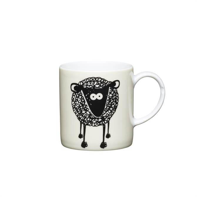 Kitchen Craft Porcelain Sheep 80ml Espresso Cup
