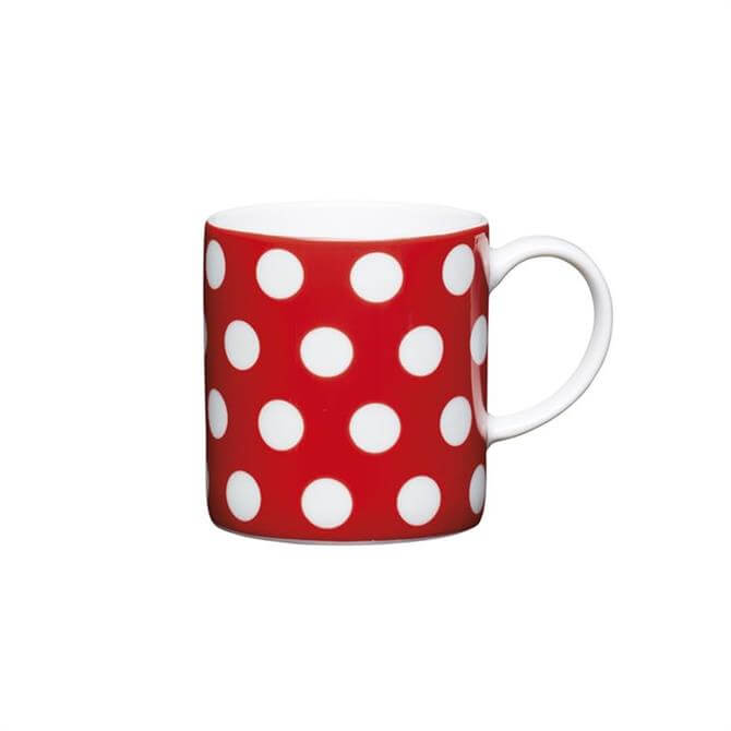 Kitchen Craft Porcelain Red Polka Dot 80ml Espresso Cup