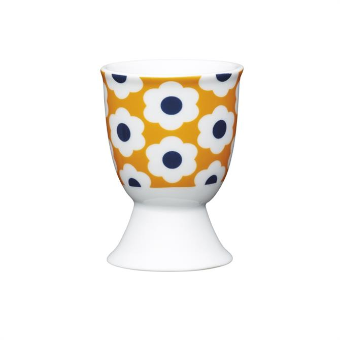 Kitchen Craft Traditional Porcelain Egg Cup: Retro Floral