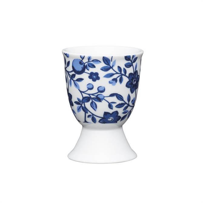 Kitchen Craft Traditional Porcelain Egg Cup: Floral Blue