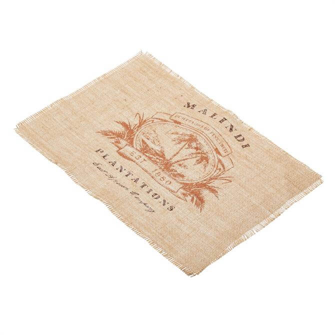 Kitchen Craft Woven Hessian Print Placemat