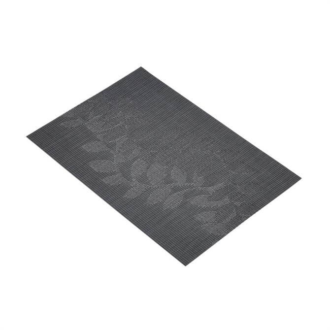 Kitchen Craft Black Leaves Woven Placemat