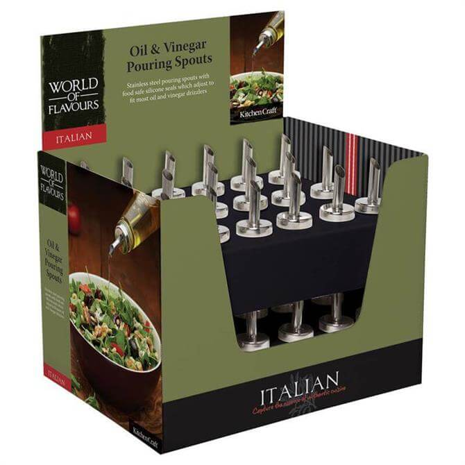 Kitchen Craft World of Flavours Italian Oil & Vinegar Pouring Spouts