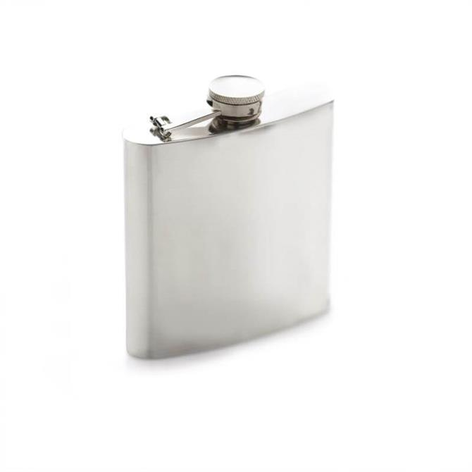 BarCraft Polished Stainless Steel Hip Flask