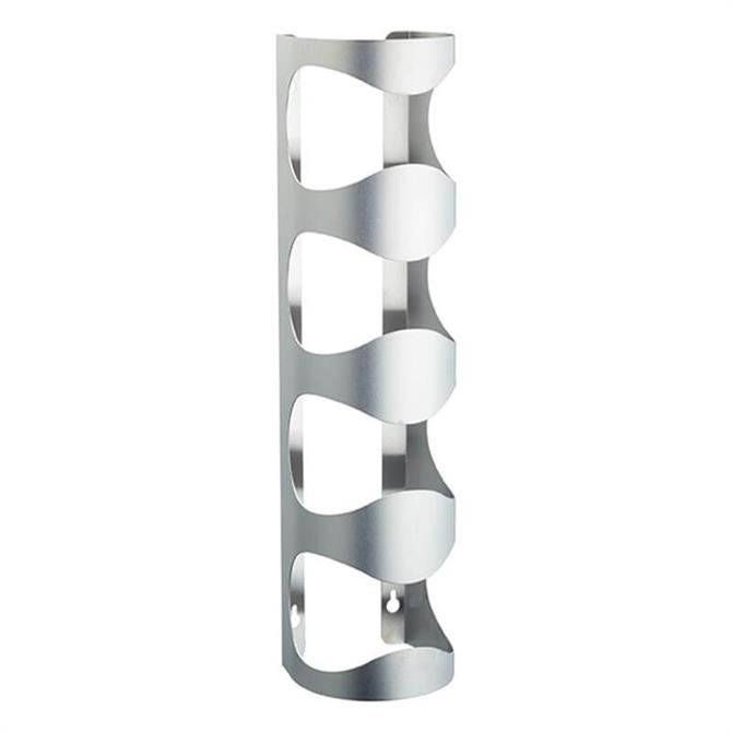 BarCraft Wall Mounted Stainless Steel 4 Bottle Wine Rack