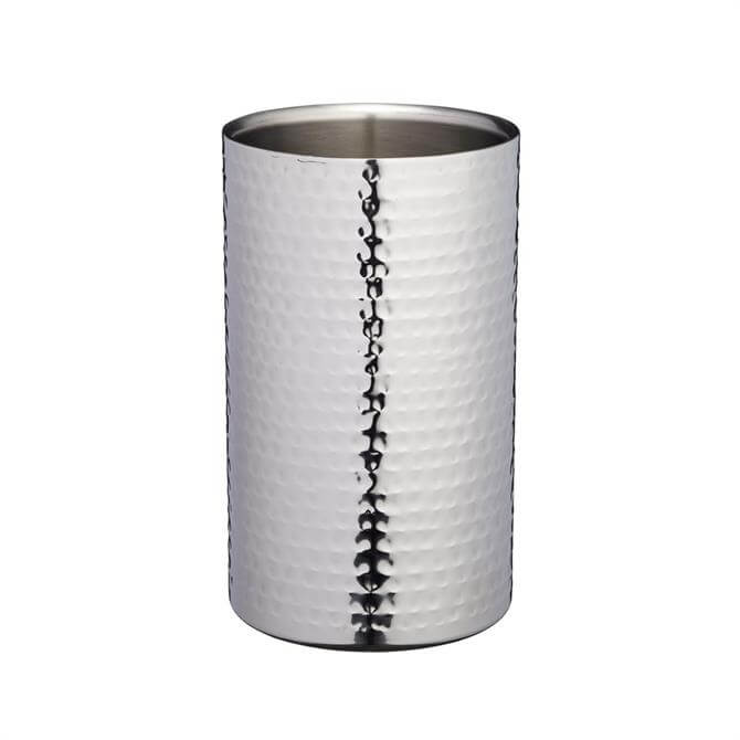 BarCraft Stainless Steel Hammered Wine Cooler Sleeve