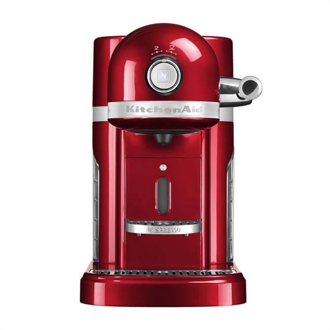 KitchenAid Nespresso Coffee Machine Candy Apple Red