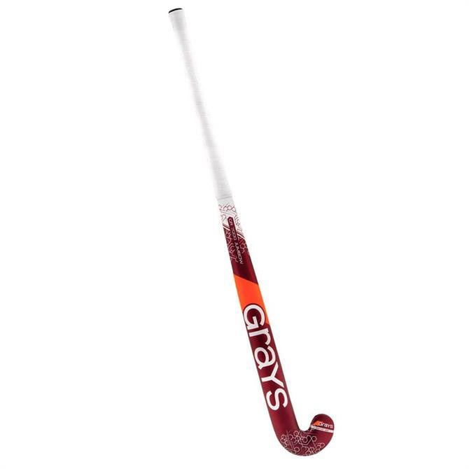 Grays GR7000 Jumbow Hockey Stick- Red/Silver