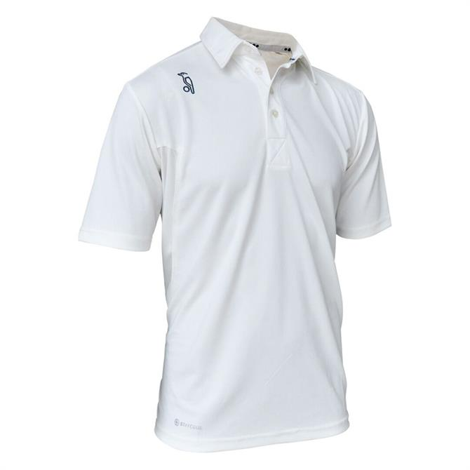 Kookaburra Junior Pro Player Short Sleeve Cricket Top - Cream