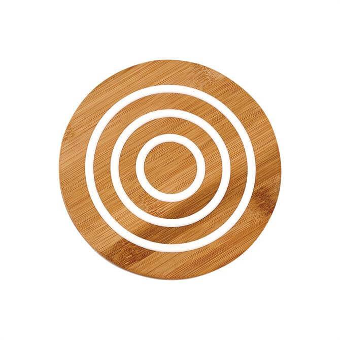 Ladelle Classic Round Bamboo 17cm Trivet : White
