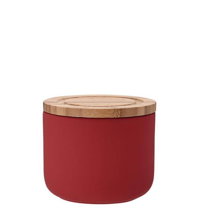 Ladelle Red Stak Soft Matt Cannister 9cm