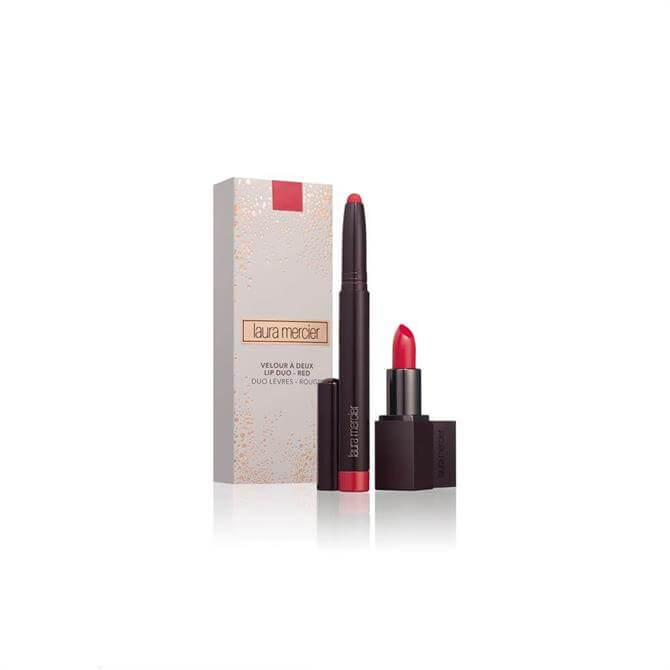 Laura Mercier Velour a Deux Lip Duo Lipstick- Red