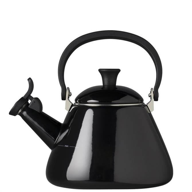Le Creuset Black Kone Kettle with Fixed Whistle 1.6 Litre