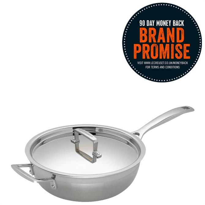 Le Creuset 3-Ply Stainless Steel Non-Stick Chefs Pan 24cm