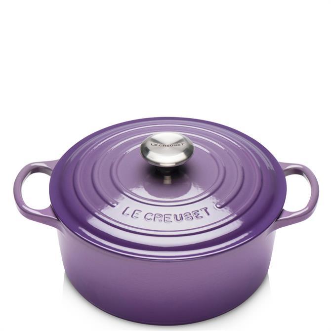 Le Creuset Signature Ultra Violet Cast Iron Round Casserole 20cm