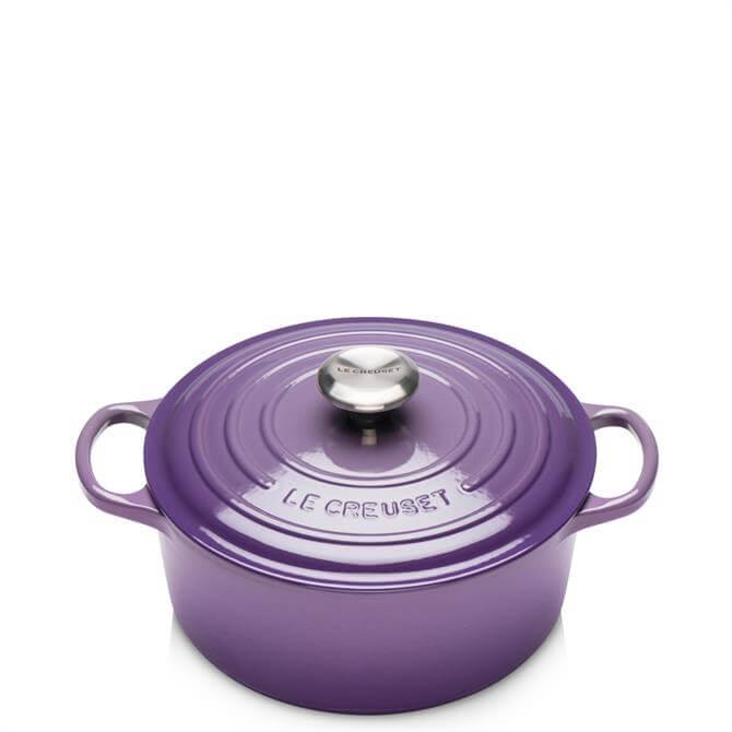 Le Creuset Signature Ultra Violet Cast Iron Round Casserole 24cm