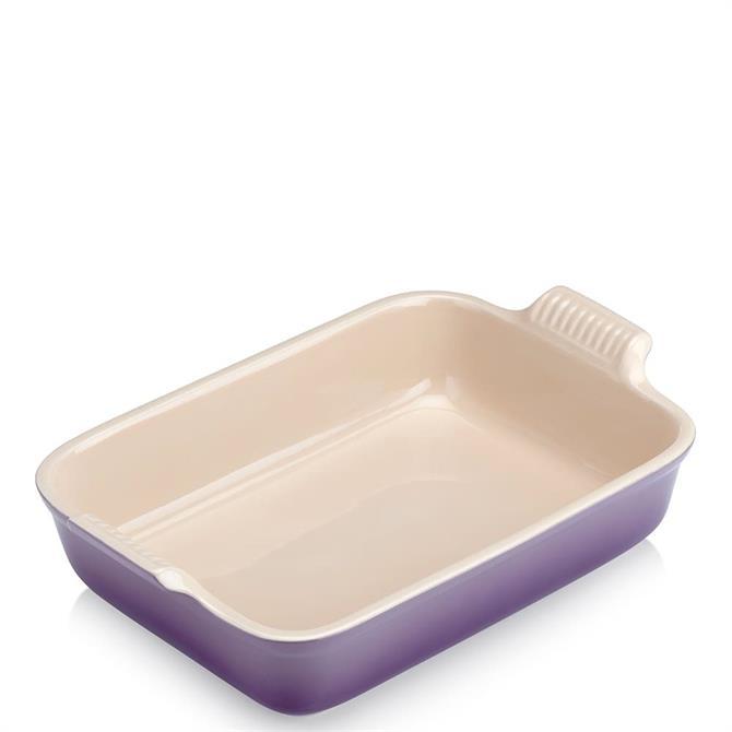 Le Creuset Ultra Violet Stoneware Medium Heritage Rectangular Dish