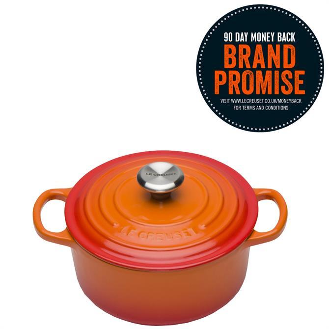Le Creuset Signature Cast Iron Volcanic Orange 18cm Round Casserole